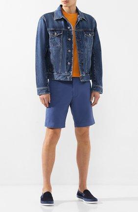 Мужские текстильные слиперы ALDO BRUE темно-синего цвета, арт. AB8125J-NSD | Фото 2