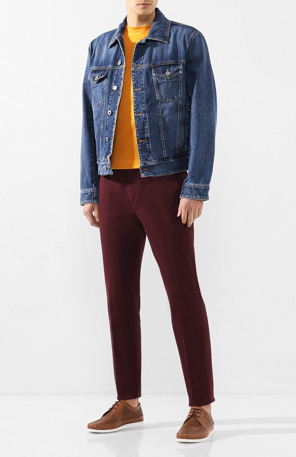 Мужские кожаные дерби ALDO BRUE бежевого цвета, арт. AB8028J-MA | Фото 2