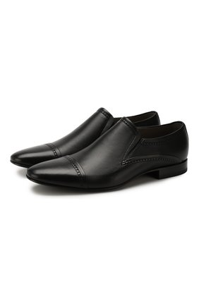 Мужские кожаные лоферы ALDO BRUE черного цвета, арт. AB4057J-NL | Фото 1 (Материал внутренний: Натуральная кожа; Стили: Классический)