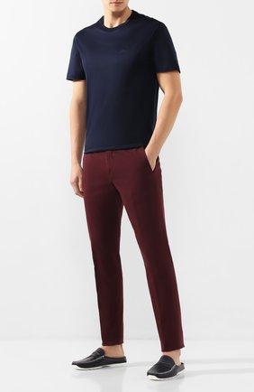 Мужские кожаные сабо ALDO BRUE темно-синего цвета, арт. AB0111J-VP | Фото 2