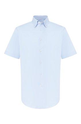 Мужская хлопковая сорочка BRIONI голубого цвета, арт. SCDG0L/08010 | Фото 1