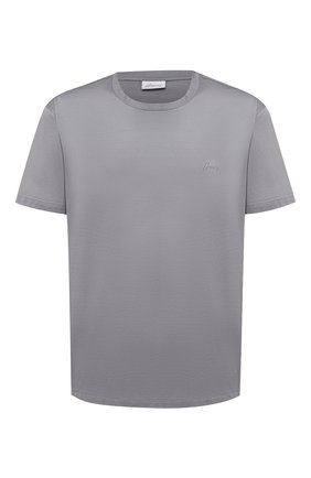 Мужская хлопковая футболка BRIONI серого цвета, арт. UJCA0L/PZ600 | Фото 1