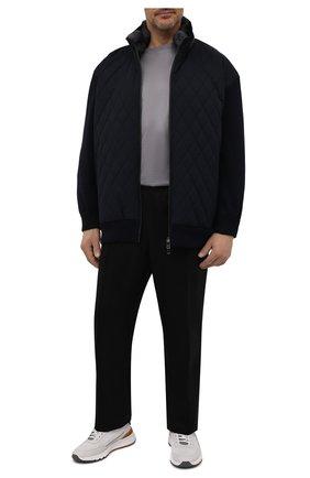 Мужская хлопковая футболка BRIONI серого цвета, арт. UJCA0L/PZ600 | Фото 2