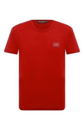 Мужская хлопковая футболка DOLCE & GABBANA красного цвета, арт. G8KJ9T/FU7EQ   Фото 1