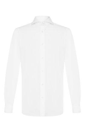 Мужская хлопковая сорочка LUIGI BORRELLI белого цвета, арт. EV08/FELICE DC/TS10205 | Фото 1