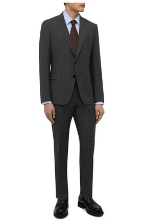 Мужская хлопковая сорочка BOSS голубого цвета, арт. 50413751 | Фото 2