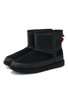 Мужские замшевые сапоги classic mini urban tech UGG черного цвета, арт. 1103877_BTNL   Фото 1