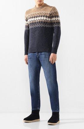 Мужские замшевые сапоги classic mini zip UGG синего цвета, арт. 1018453_TNVY | Фото 2