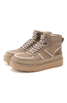 Мужские кожаные ботинки ugg x white mountaineering highland sport UGG бежевого цвета, арт. 1108649_DUNE | Фото 1