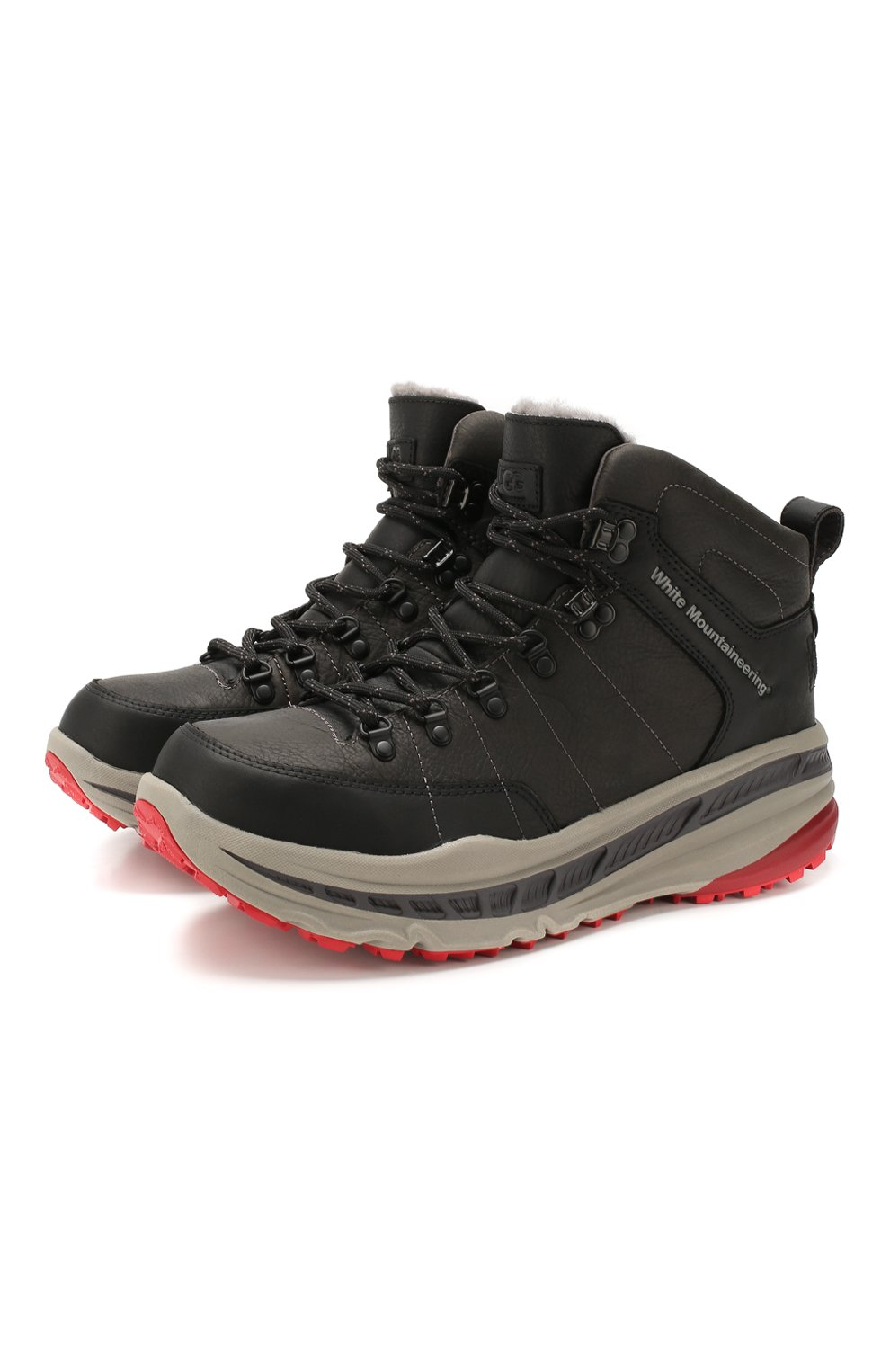 Мужские кожаные ботинки ugg x white mountaineering 805 hiker UGG черного цвета, арт. 1108650_BLK   Фото 1
