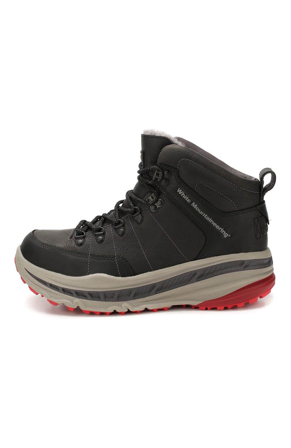 Мужские кожаные ботинки ugg x white mountaineering 805 hiker UGG черного цвета, арт. 1108650_BLK   Фото 3