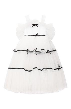 Детское платье lesley SASHA KIM белого цвета, арт. УТ-00000300/1 | Фото 1