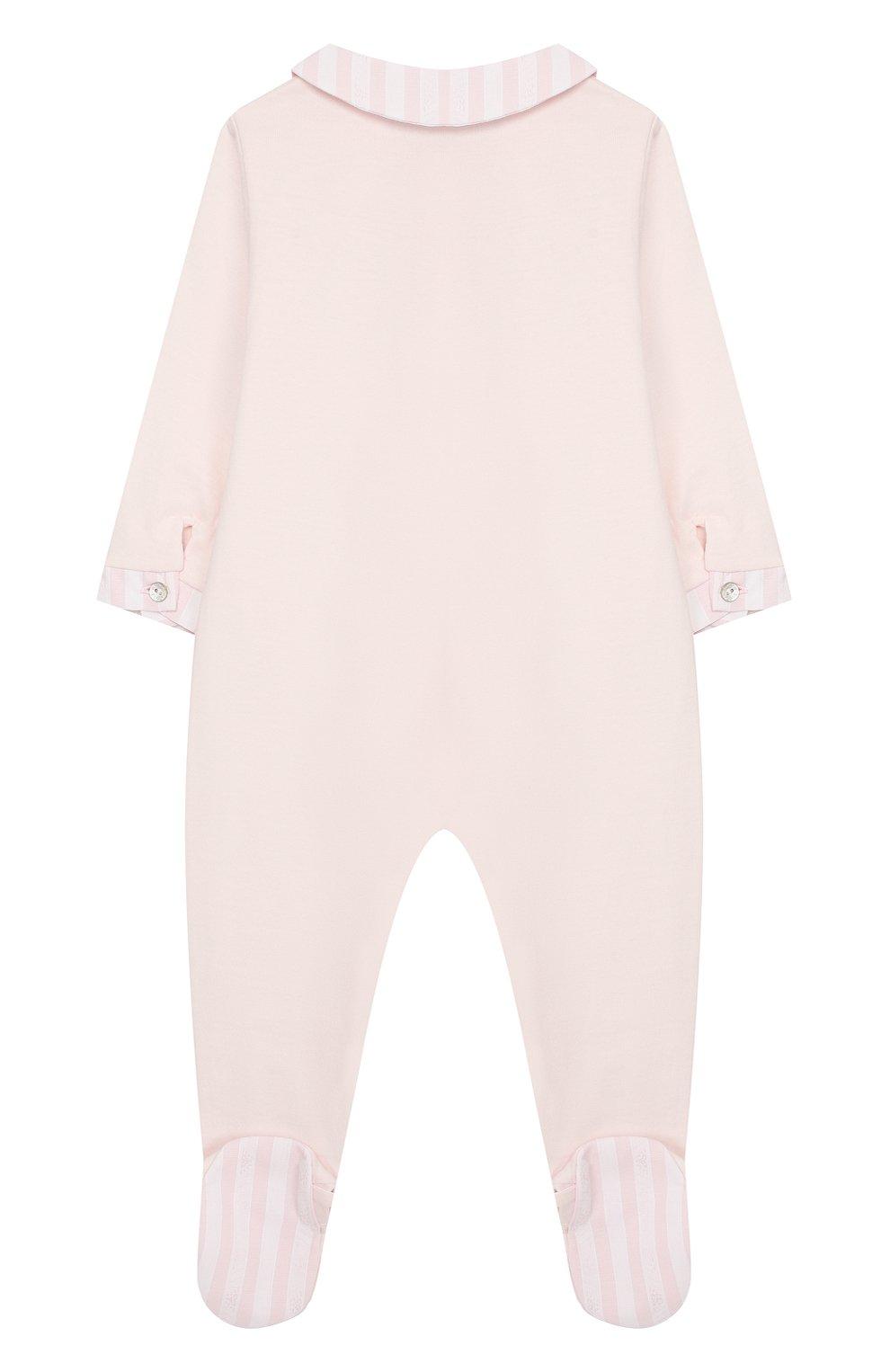 Детский хлопковый комбинезон TARTINE ET CHOCOLAT светло-розового цвета, арт. TP54151/1M-1A   Фото 2