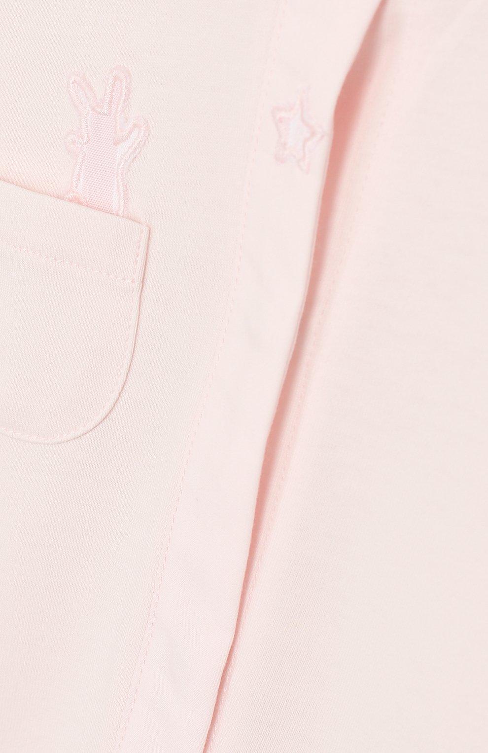 Детский хлопковый комбинезон TARTINE ET CHOCOLAT светло-розового цвета, арт. TP54151/1M-1A   Фото 3