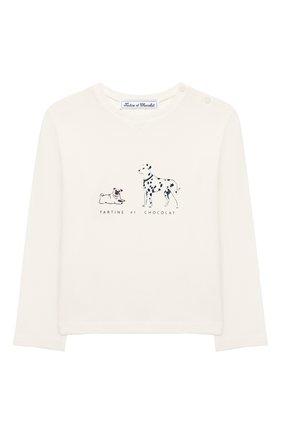Детская хлопковый лонгслив TARTINE ET CHOCOLAT белого цвета, арт. TP10051/18M-3A | Фото 1