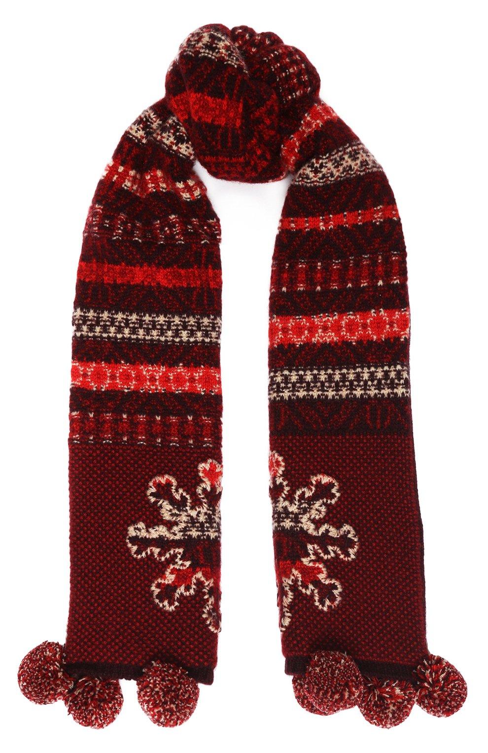 Детский кашемировый шарф LORO PIANA красного цвета, арт. FAI8418   Фото 1