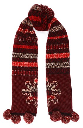 Детский кашемировый шарф LORO PIANA красного цвета, арт. FAI8418 | Фото 1