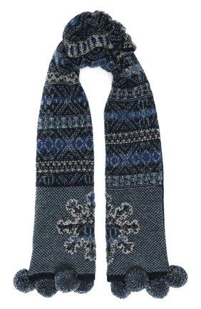 Детский кашемировый шарф LORO PIANA синего цвета, арт. FAI8418 | Фото 1