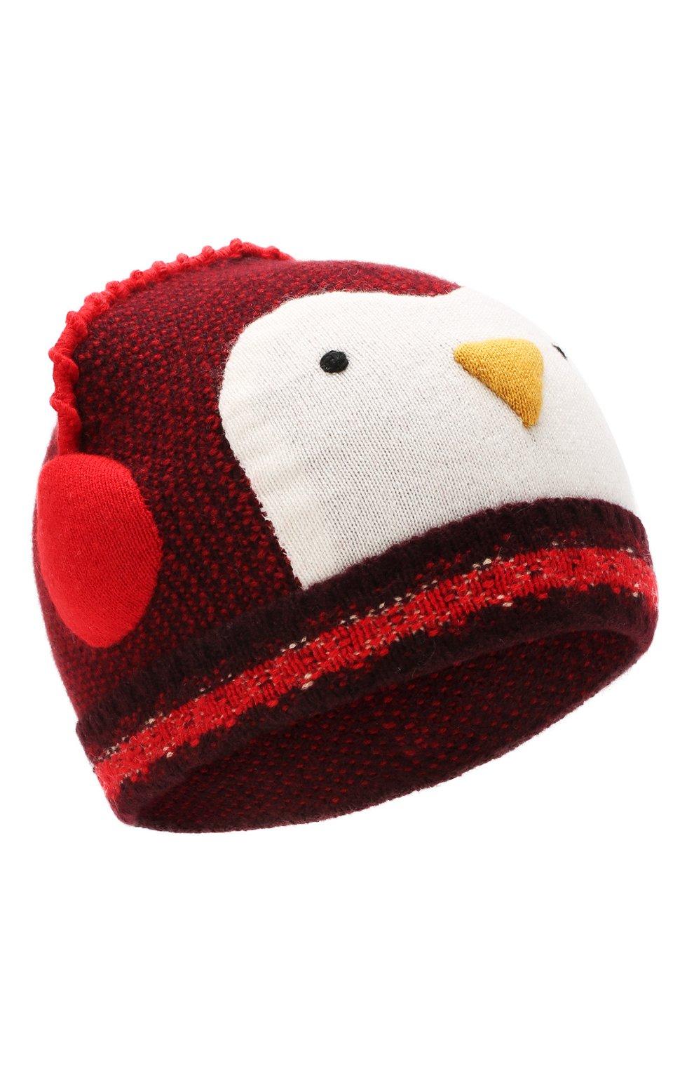 Детского кашемировая шапка LORO PIANA красного цвета, арт. FAI8428 | Фото 1