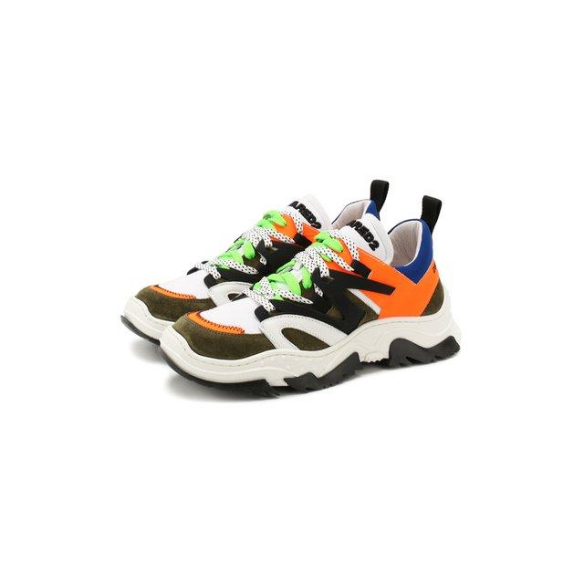 Кожаные кроссовки Dsquared2 — Кожаные кроссовки