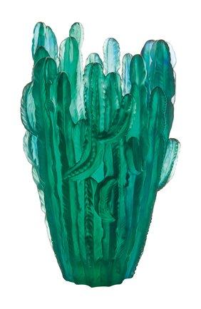 Мужского ваза jardin de cactus DAUM зеленого цвета, арт. 05673 | Фото 1