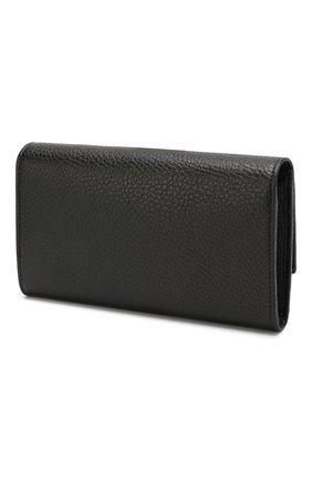 Женские кожаный кошелек gg marmont GUCCI черного цвета, арт. 456116/CA00G | Фото 2