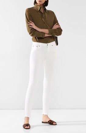 Женские кожаные шлепанцы nu pieds SAINT LAURENT бронзового цвета, арт. 565588/EXV00 | Фото 2