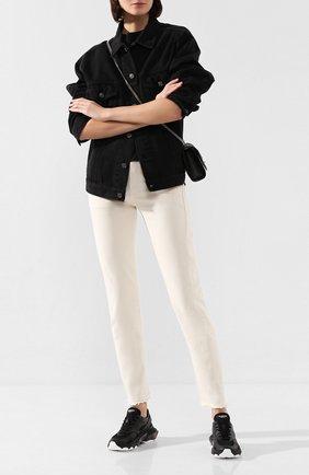 Женские комбинированные кроссовки valentino garavani bounce VALENTINO черного цвета, арт. TW2S0I55/YBH | Фото 2
