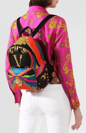 Женский рюкзак voyage barocco VERSACE разноцветного цвета, арт. DBFF360/D2NSC | Фото 2