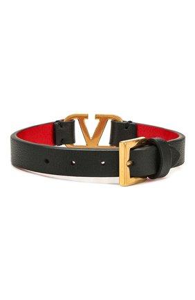Кожаный браслет Valentino Garavani VLOGO | Фото №2