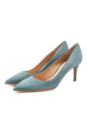 Замшевые туфли Gianvito 70 | Фото №1