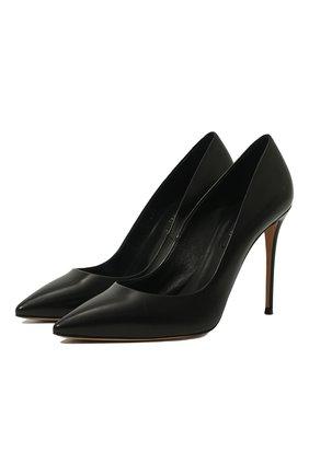 Женская кожаные туфли julia CASADEI черного цвета, арт. 1F121D1001MIN0R9000 | Фото 1