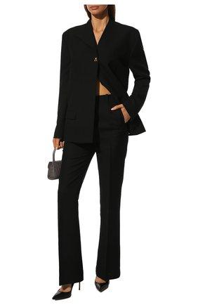 Женская кожаные туфли julia CASADEI черного цвета, арт. 1F121D1001MIN0R9000 | Фото 2
