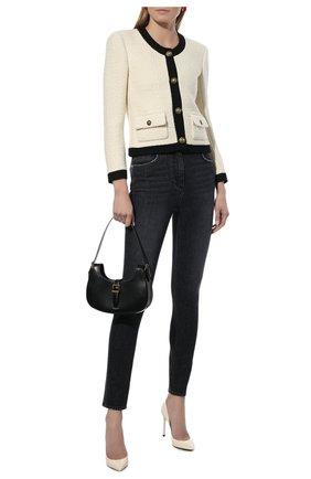 Женская кожаные туфли zoe SAINT LAURENT кремвого цвета, арт. 582301/0NP00 | Фото 2