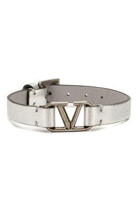 Кожаный браслет Valentino Garavani VLOGO | Фото №1