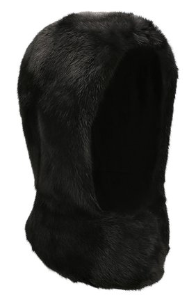 Женский капюшон из меха норки COLOR TEMPERATURE черного цвета, арт. 19CT1010 | Фото 1