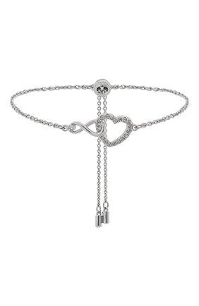 Женский браслет infinity SWAROVSKI серебряного цвета, арт. 5524421 | Фото 1