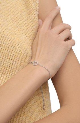 Женский браслет infinity SWAROVSKI серебряного цвета, арт. 5524421 | Фото 2