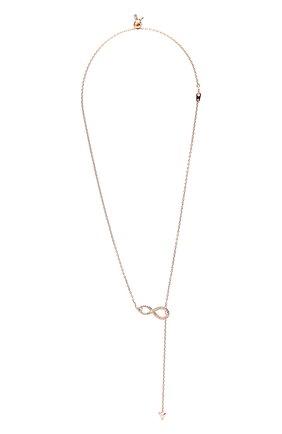 Женское колье infinity SWAROVSKI золотого цвета, арт. 5521346 | Фото 1