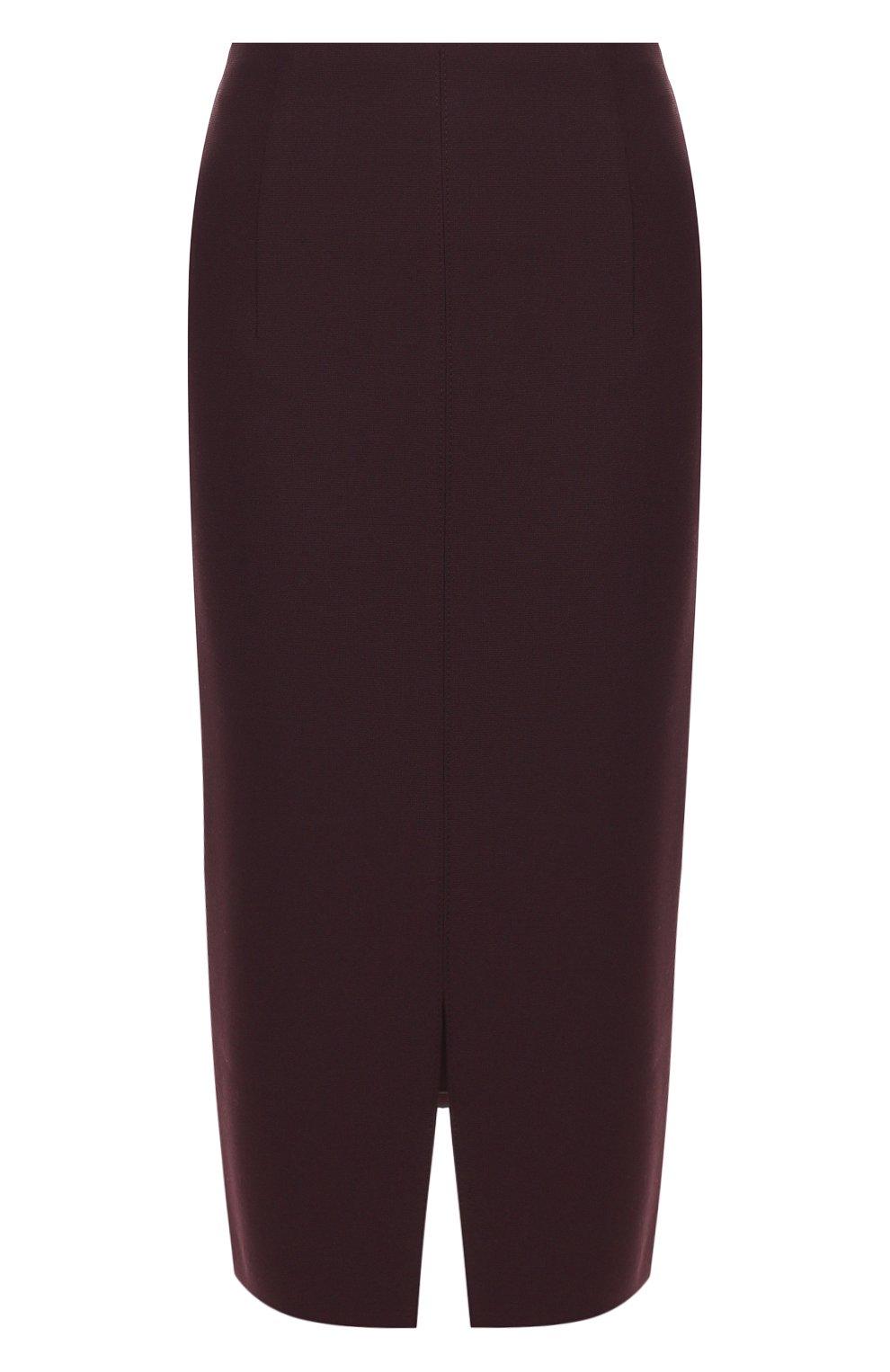 Женская юбка BOSS бордового цвета, арт. 50419684 | Фото 1