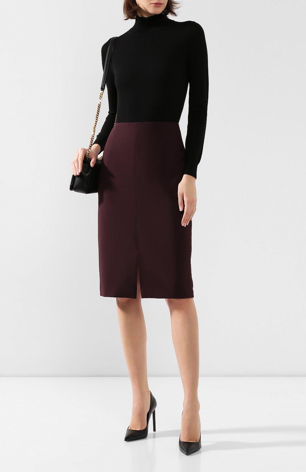 Женская юбка BOSS бордового цвета, арт. 50419684 | Фото 2