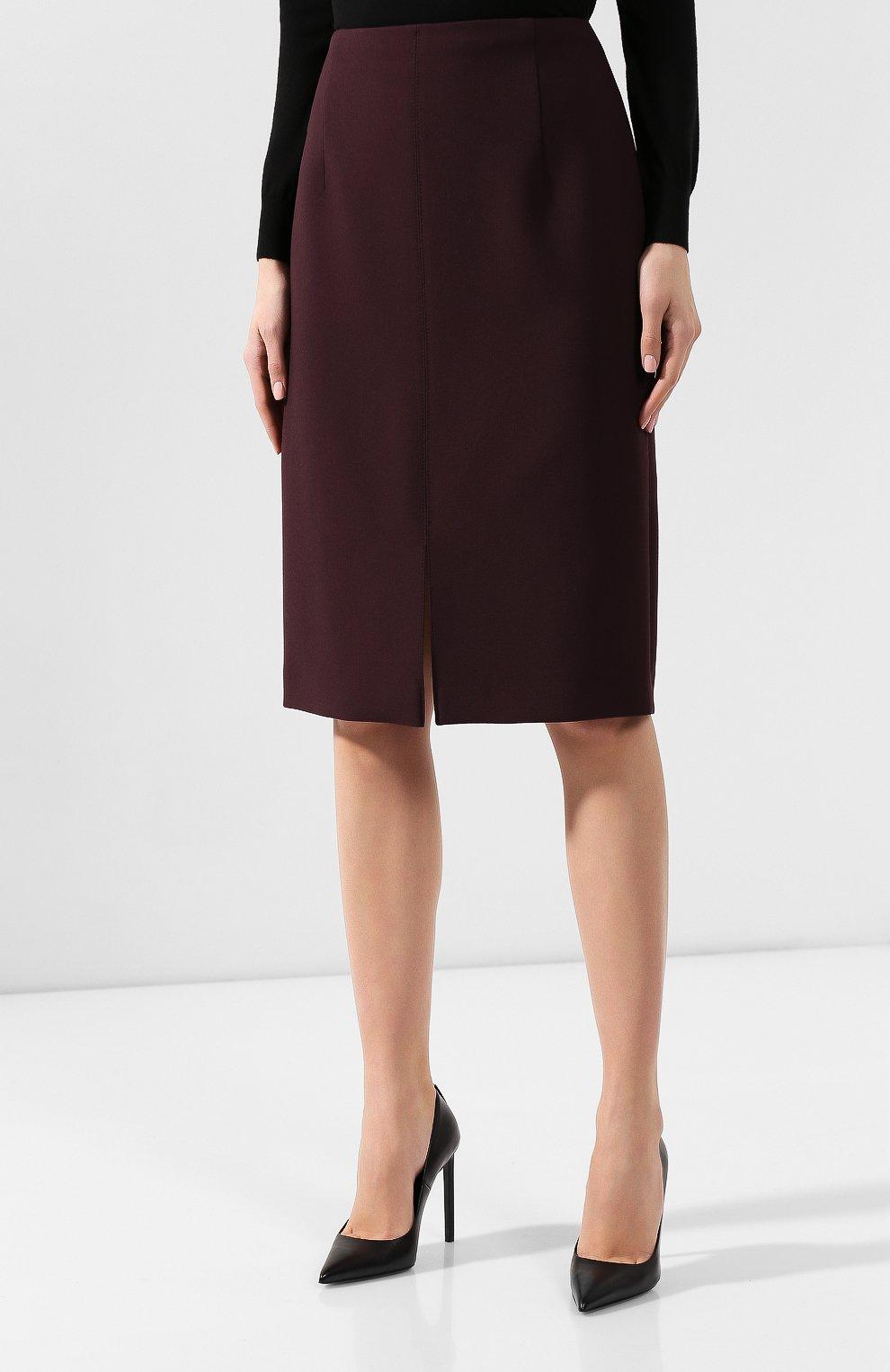 Женская юбка BOSS бордового цвета, арт. 50419684 | Фото 3