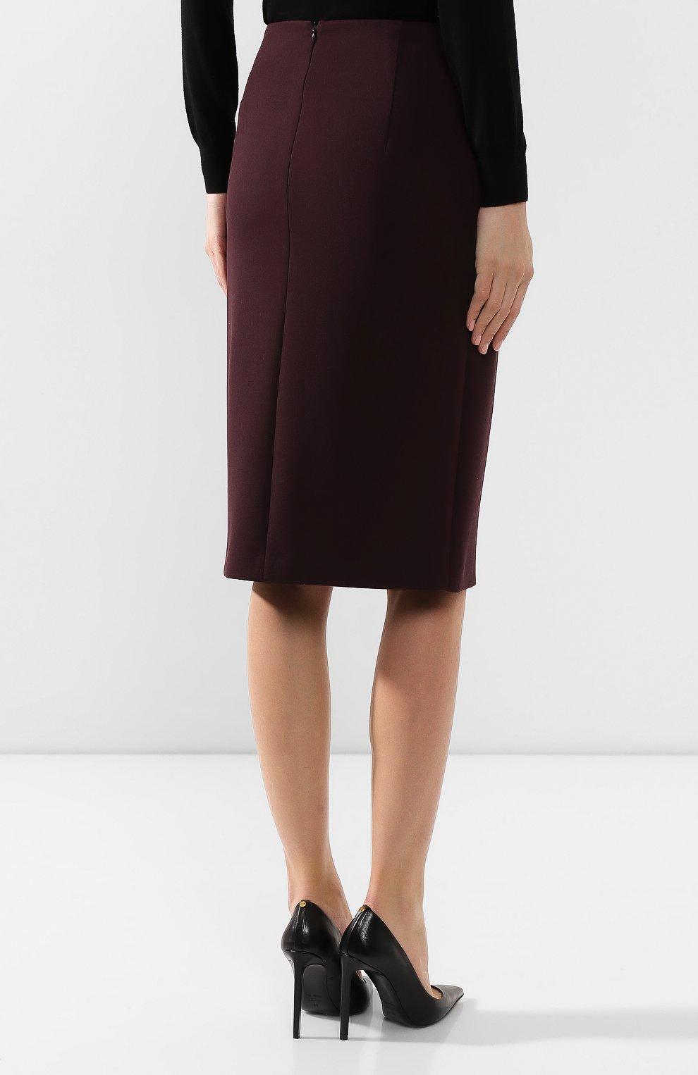 Женская юбка BOSS бордового цвета, арт. 50419684 | Фото 4