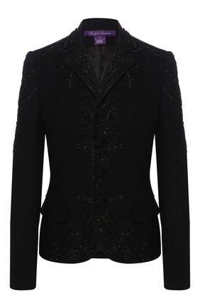Женский шерстяной жакет RALPH LAUREN черного цвета, арт. 290784707 | Фото 1