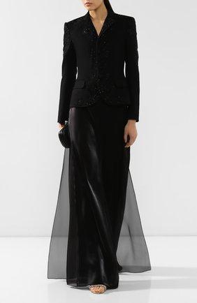 Женский шерстяной жакет RALPH LAUREN черного цвета, арт. 290784707 | Фото 2