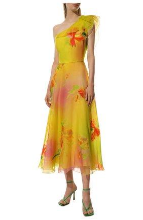 Женское шелковое платье RALPH LAUREN разноцветного цвета, арт. 290791386 | Фото 2