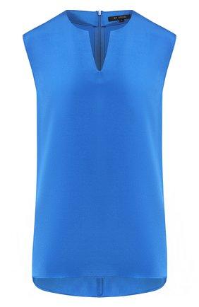 Женский шелковый топ ST. JOHN голубого цвета, арт. K91YW01 | Фото 1
