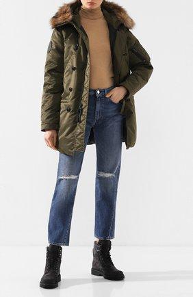 Женский пуховая куртка POLO RALPH LAUREN зеленого цвета, арт. 211765216   Фото 2