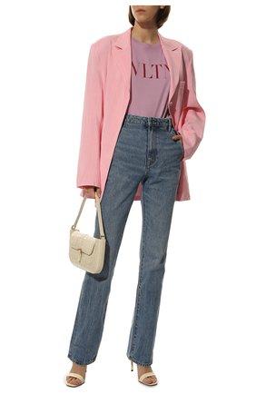 Женская хлопковая футболка VALENTINO розового цвета, арт. TB3MG07D3V6 | Фото 2