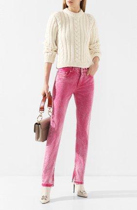 Женские джинсы GANNI розового цвета, арт. F4386 | Фото 2